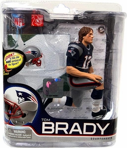 McFarlane Toys NFL Sports Picks Series 27 Action Figure Tom Brady (New England Patriots) Blue Jersey & Long Hair