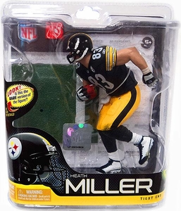 McFarlane Toys NFL Sports Picks Series 27 Action Figure Heath Miller (Pittsburgh Steelers) Black Jersey