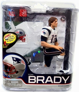 McFarlane Toys NFL Sports Picks Series 27 Action Figure Tom Brady (New England Patriots) White Jersey Bronze Collector Level Chase Only 2,000 Made!