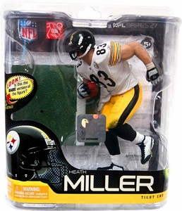 McFarlane Toys NFL Sports Picks Series 27 Action Figure Heath Miller (Pittsburgh Steelers) White Jersey Bronze Collector Level Chase Only 3,000 Made!