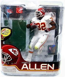 McFarlane Toys NFL Sports Picks Series 27 Action Figure Marcus Allen (Kansas City Chiefs) White Jersey Silver Collector Level Chase Only 1,000 Made!