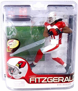 McFarlane Toys NFL Sports Picks Series 27 Action Figure Larry Fitzgerald (Arizona Cardinals) White Jersey Silver Collector Level Chase Only 1,000 Made!