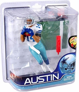 McFarlane Toys NFL Sports Picks Series 27 Action Figure Miles Austin (Dallas Cowboys) Jersey #14 Gold Collector Level Chase Only 500 Made!