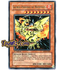 YuGiOh Flaming Eternity Single Card Ultra Rare FET-EN005 Sacred Phoenix of Nephthys