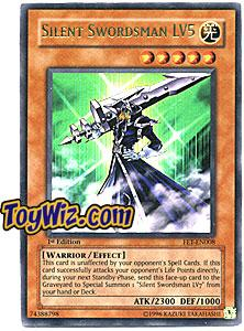 YuGiOh Flaming Eternity Single Card Ultra Rare FET-EN008 Silent Swordsman LV5