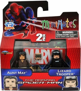 Marvel Minimates Amazing Spider-Man Movie Series 46 Mini Figure 2-Pack Aunt May & Lizard Trooper [Variant] BLOWOUT SALE!