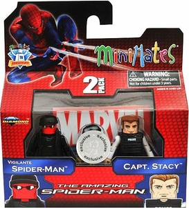Marvel Minimates Amazing Spider-Man Movie Exclusive Mini Figure 2-Pack Vigilante Spider-Man & Capt. Stacy BLOWOUT SALE!