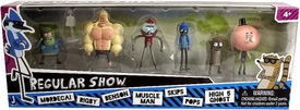 Regular Show 2 Inch Mini Action Figure 6-Pack [Mordecai, Rigby, Benson, Muscle Man, Skips, Pops & High 5 Ghost]
