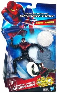 Amazing Spider-Man Comic Series Exclusive 6 Inch Action Figure Ultimate Comics Spider-Man [Clip-On Web Shield]