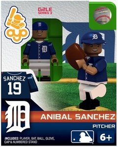 OYO Baseball MLB Generation 2 Building Brick Minifigure Anibal Sanchez [Detroit Tigers]