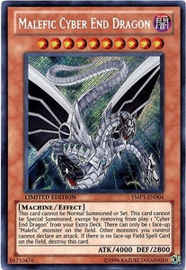 YuGiOh Promo Bonds Beyond Time Movie Promo Single Card Secret Rare YMP1-EN004 Malefic Cyber End Dragon