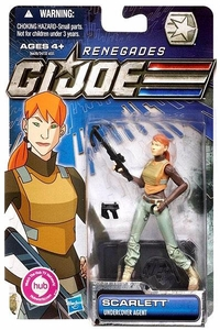 GI Joe 30th Anniversary 3 3/4 Inch Renegades Action Figure Scarlett [Undercover Agent]