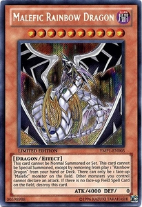 YuGiOh Promo Bonds Beyond Time Movie Promo Single Card Secret Rare YMP1-EN005 Malefic Rainbow Dragon