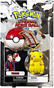 Pokemon Black & White Toy Plush Series 1 Throw Poke Ball Pikachu
