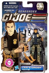 GI Joe 30th Anniversary 3 3/4 Inch Renegades Action Figure Law & Order [Police K-9 Unit]