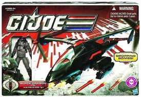 GI Joe 30th Anniversary 3 3/4 Inch Bravo Vehicle Black Dragon VTOL with Cobra Air Trooper Action Figure