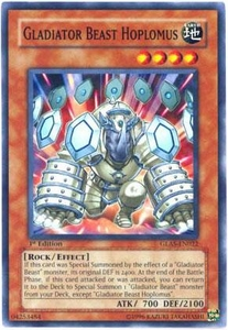YuGiOh GX Gladiator's Assault Single Card Common GLAS-EN022 Gladiator Beast Hoplomus