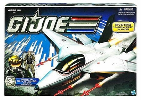 GI Joe 30th Anniversary 3 3/4 Inch Vehicle Sky Striker Jet with Captain Ace Action Figure