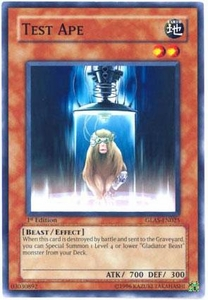 YuGiOh GX Gladiator's Assault Single Card Common GLAS-EN025 Test Ape