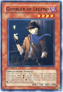 YuGiOh GX Gladiator's Assault Single Card Common GLAS-EN031 Gambler of Legend