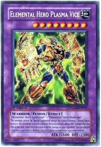 YuGiOh GX Gladiator's Assault Single Card Secret Rare GLAS-EN037 Elemental Hero Plasma Vice