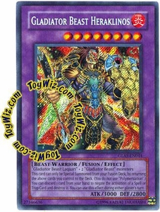 YuGiOh GX Gladiator's Assault Single Card Secret Rare GLAS-EN044 Gladiator Beast Heraklinos