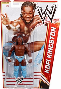 Mattel WWE Wrestling Basic Series 19 Action Figure #39 Kofi Kingston