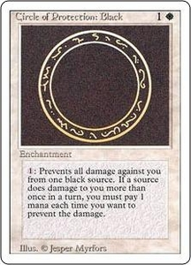Magic the Gathering Revised Edition Single Card Common Circle of Protection: Black
