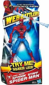 Amazing Spider-Man Movie Web Battlers Action Figure Comic Series Spinning Staff Spider-Man