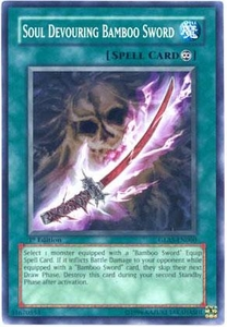 YuGiOh GX Gladiator's Assault Single Card Common GLAS-EN060 Soul Devouring Bamboo Sword