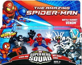 Amazing Spider-Man Super Hero Squad 3-Pack Battle Against Venom [Spider-Man, Anti-Venom & Venom]