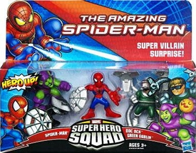 Amazing Spider-Man Super Hero Squad 3-Pack Super Villan Surprise [Spider-Man, Doc Ock & Green Goblin]