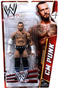 Mattel WWE Wrestling Basic Series 24 Action Figure #2 CM Punk