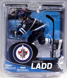 McFarlane Toys NHL Sports Picks Series 31 Action Figure Andrew Ladd (Winnipeg Jets) Blue Jersey Collector Level Only 2,000 Made!