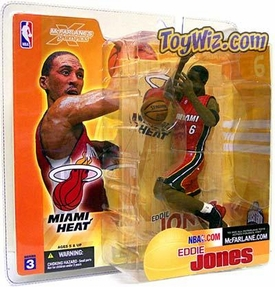 McFarlane Toys NBA Sports Picks Series 3 Action Figure Eddie Jones (Miami Heat) Red Jersey