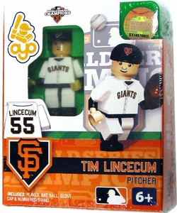 OYO Baseball MLB Building Brick Minifigure 2012 World Series Champions Tim Lincecum [San Francisco Giants]