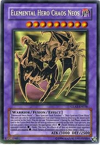 YuGiOh GX Gladiator's Assault Single Card GHOST Rare GLAS-EN036 Elemental Hero Chaos Neos