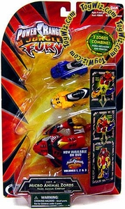Power Rangers Jungle Fury Micro Animal Zord Figures Set A [Tiger, Jaguar & Cheetah]