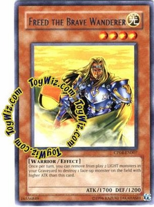 YuGiOh GX Champion Pack Game Four Single Card Rare CP04-EN007 Freed the Brave Wanderer