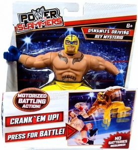 WWE Wrestling Power Slammers Action Figure Rey Mysterio [Dynamite Driving]