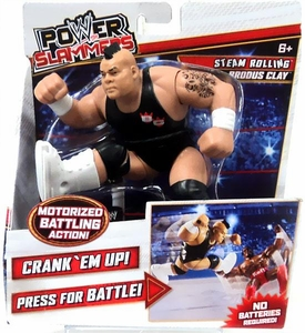 WWE Wrestling Power Slammers Action Figure Brodus Clay [Steam Rolling]