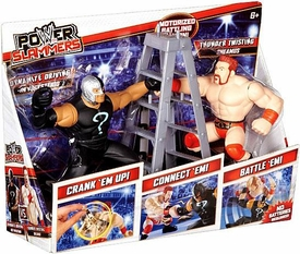 WWE Wrestling Power Slammers Starter 2-Pack Rey Mysterio & Sheamus [Dynamite Driving & Thunder Twisting] BLOWOUT SALE!