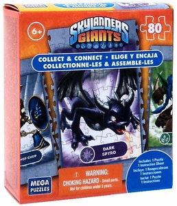 Mega Puzzles Skylanders Giants 80 Piece Puzzle Dark Spyro BLOWOUT SALE!