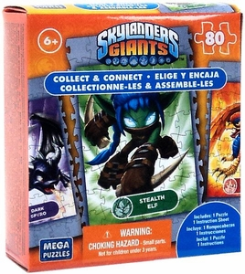 Mega Puzzles Skylanders Giants 80 Piece Puzzle Stealth Elf BLOWOUT SALE!
