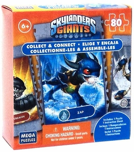 Mega Puzzles Skylanders Giants 80 Piece Puzzle Zap BLOWOUT SALE!