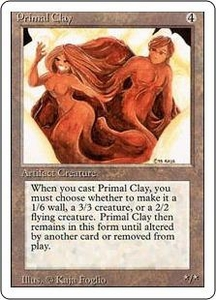Magic the Gathering Revised Edition Single Card Rare Primal Clay