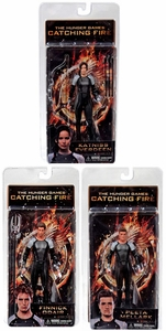 NECA The Hunger Games Catching Fire Series 1 Set of 3 Action Figures [Katniss, Peeta & Finnick]