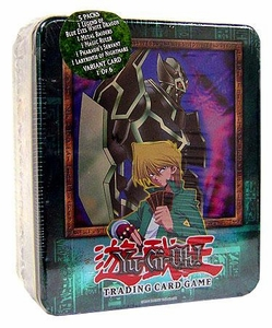 YuGiOh 2003 Tin Set Joey's Gearfried the Iron Knight Sealed Tin Damaged Package, Mint Contents!
