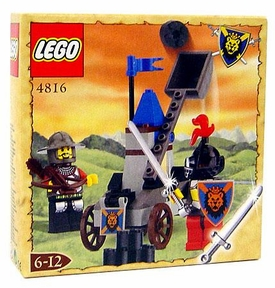 LEGO Knights Kingdom Exclusive Chrome Knight Series Set #4816 Knight's Catapult Very Rare!