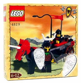 LEGO Knights Kingdom Exclusive Chrome Knight Series Set #4819 Bulls Attack Wagon Very Rare!